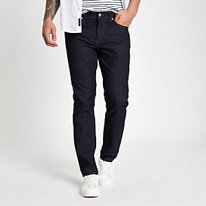 Dylan - Donkerblauwe rinse slim-fit jeans