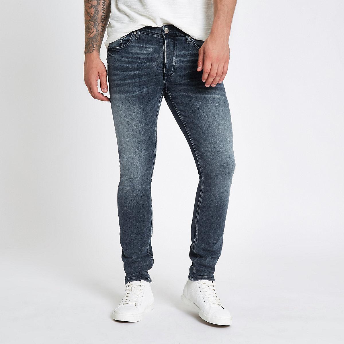 Mid blue Sid skinny stretch jeans