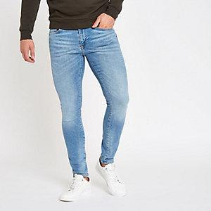 Danny - Lichtblauwe superskinny jeans