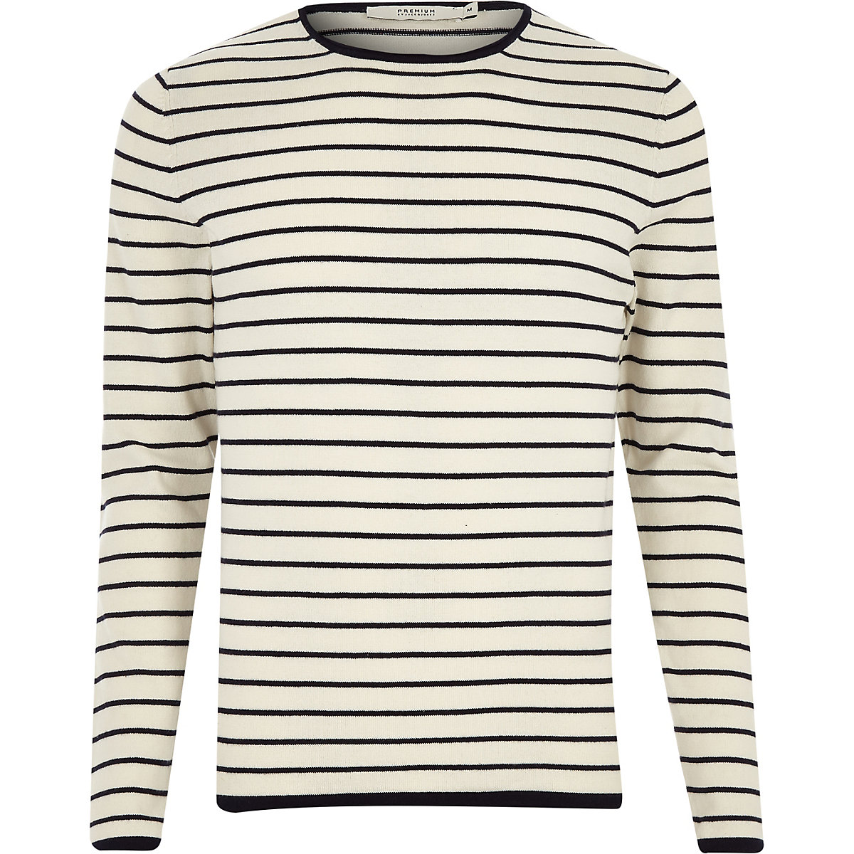 Jack & Jones grey knit stripe jumper
