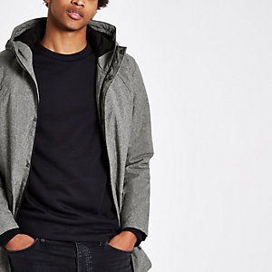 Only & Sons grey hooded jacket