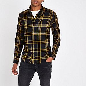 Only & Sons – Chemise manches longues à carreaux jaune