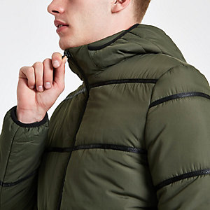 Only & Sons khaki padded coat