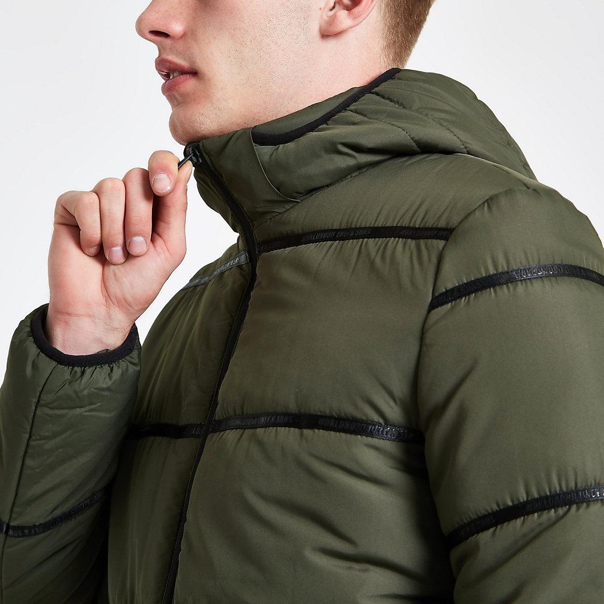 Only & Sons khaki padded coat