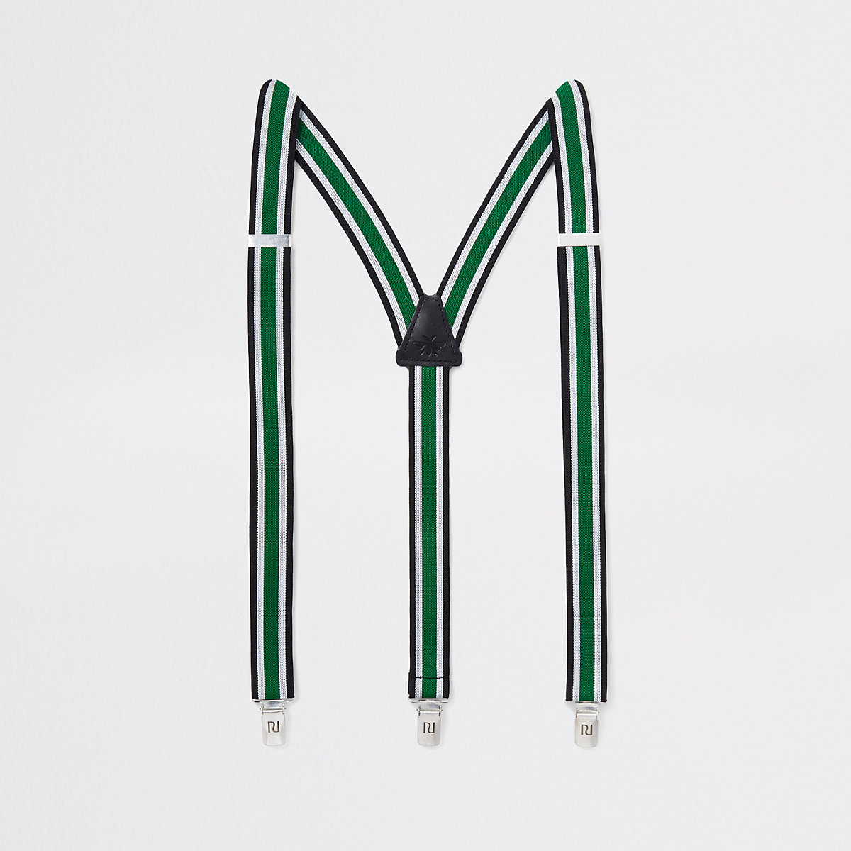 Green stripe belt suspenders