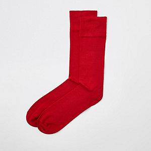 Chaussettes rouges habillées