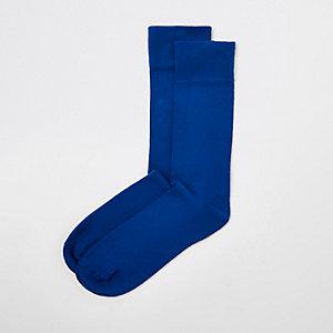 Chaussettes bleues habillées