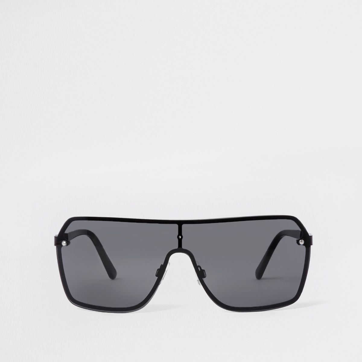 Black visor aviator sunglasses