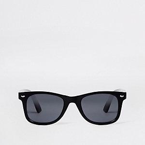 Zwarte glimmende retrozonnebril