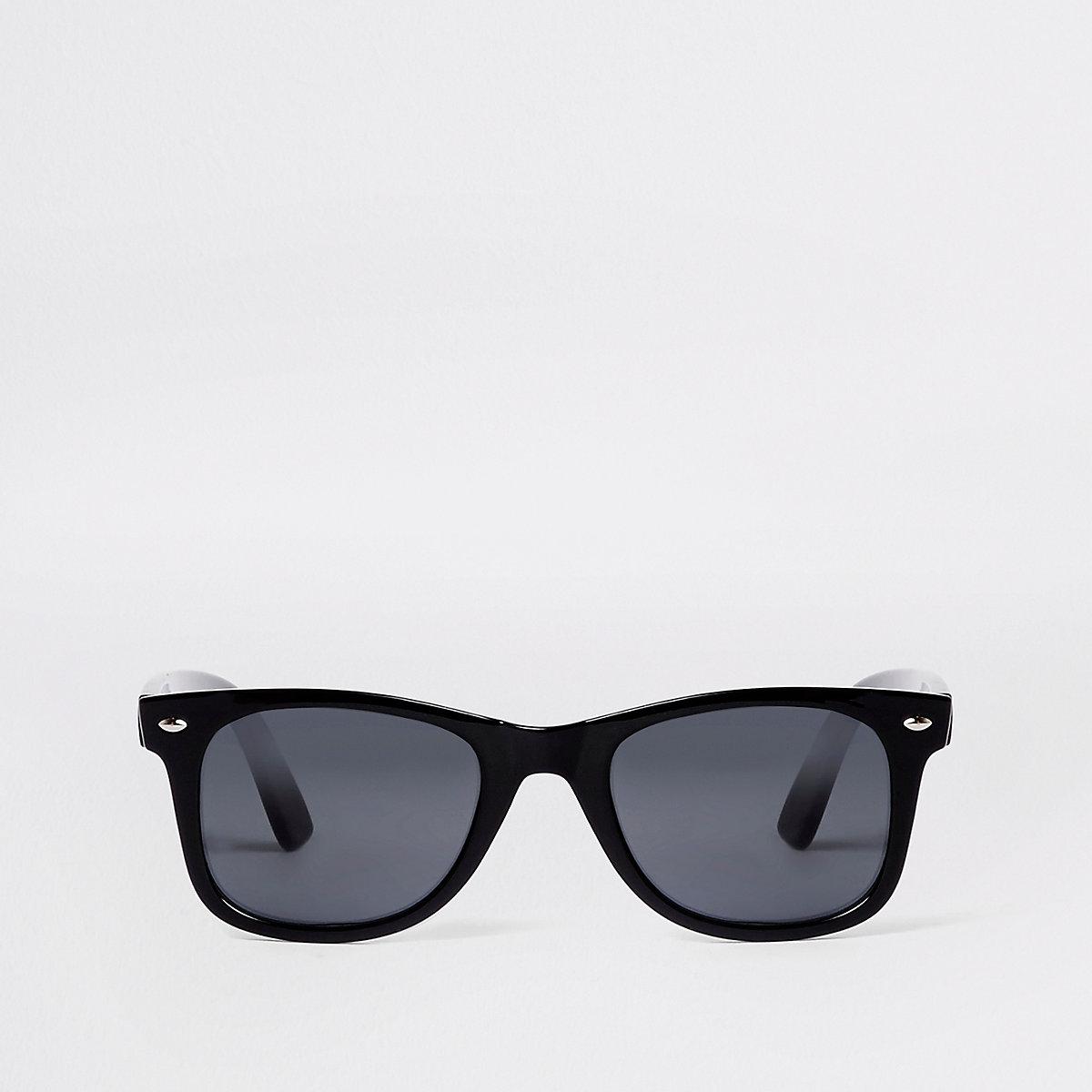 Black shiny retro sunglasses