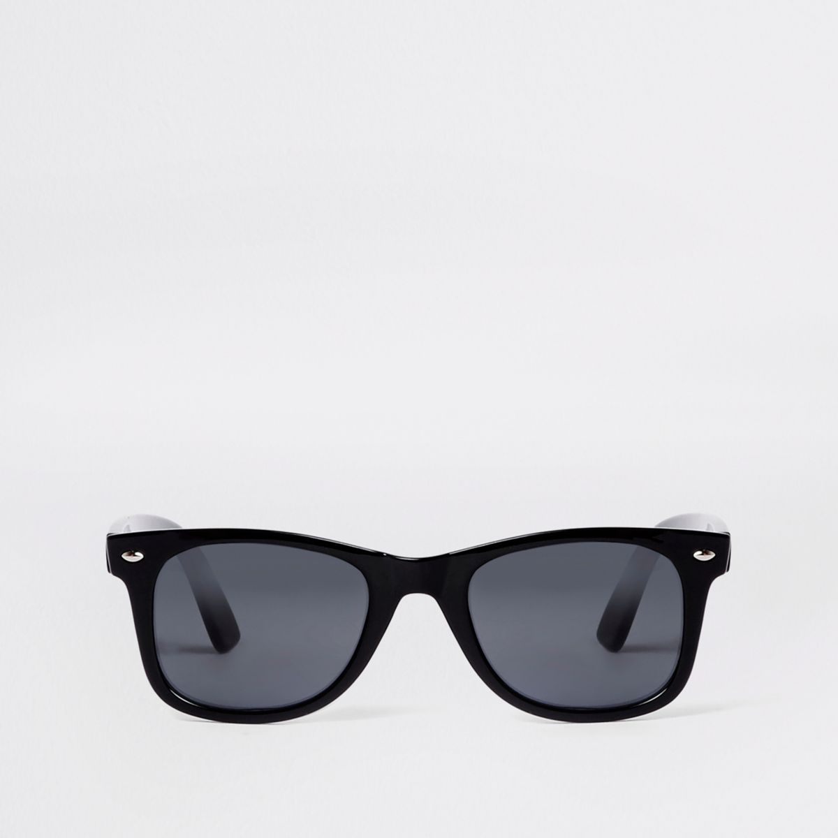 Black shiny retro sunglasses