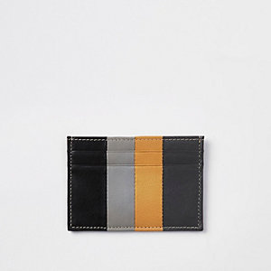 Black panel print card holder