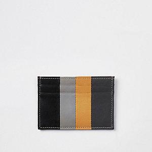 Black panel print card holder