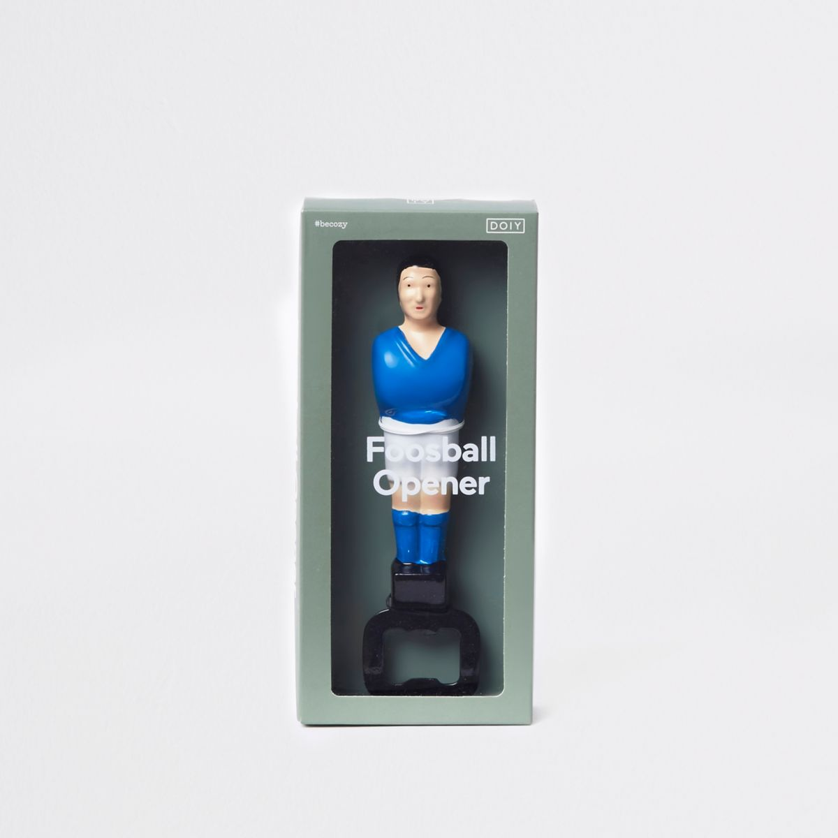 Blue foosball football bottle opener