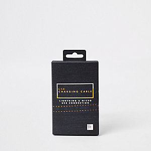 Jeansblaues USB-Ladekabel