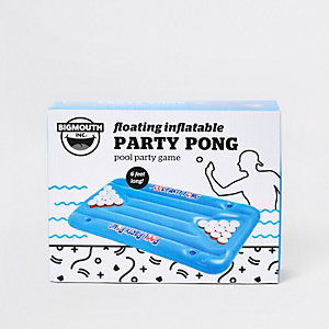 Floating inflatable pool party pong