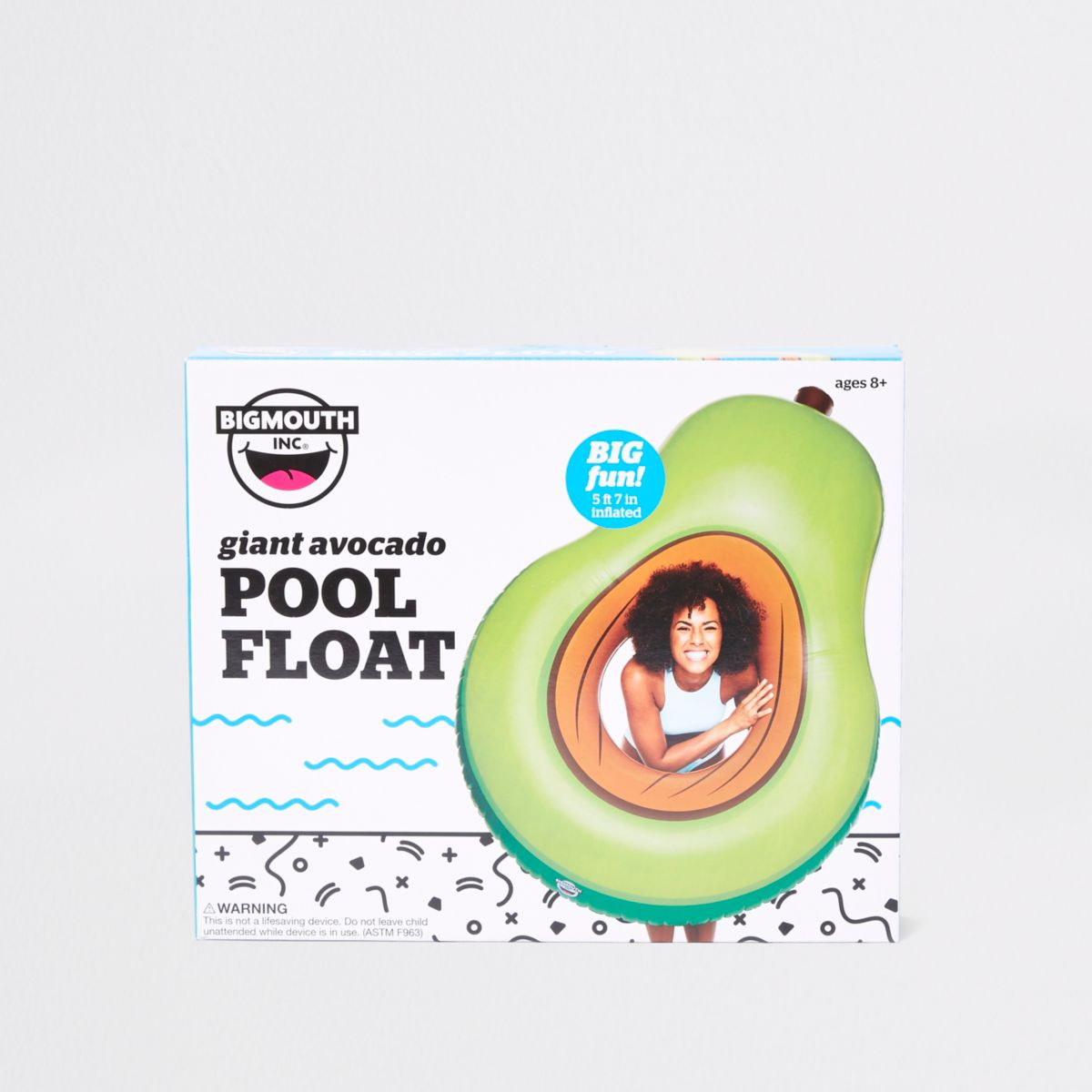 Green giant inflatable avocado pool float