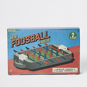 Grijze mini tafelvoetbal