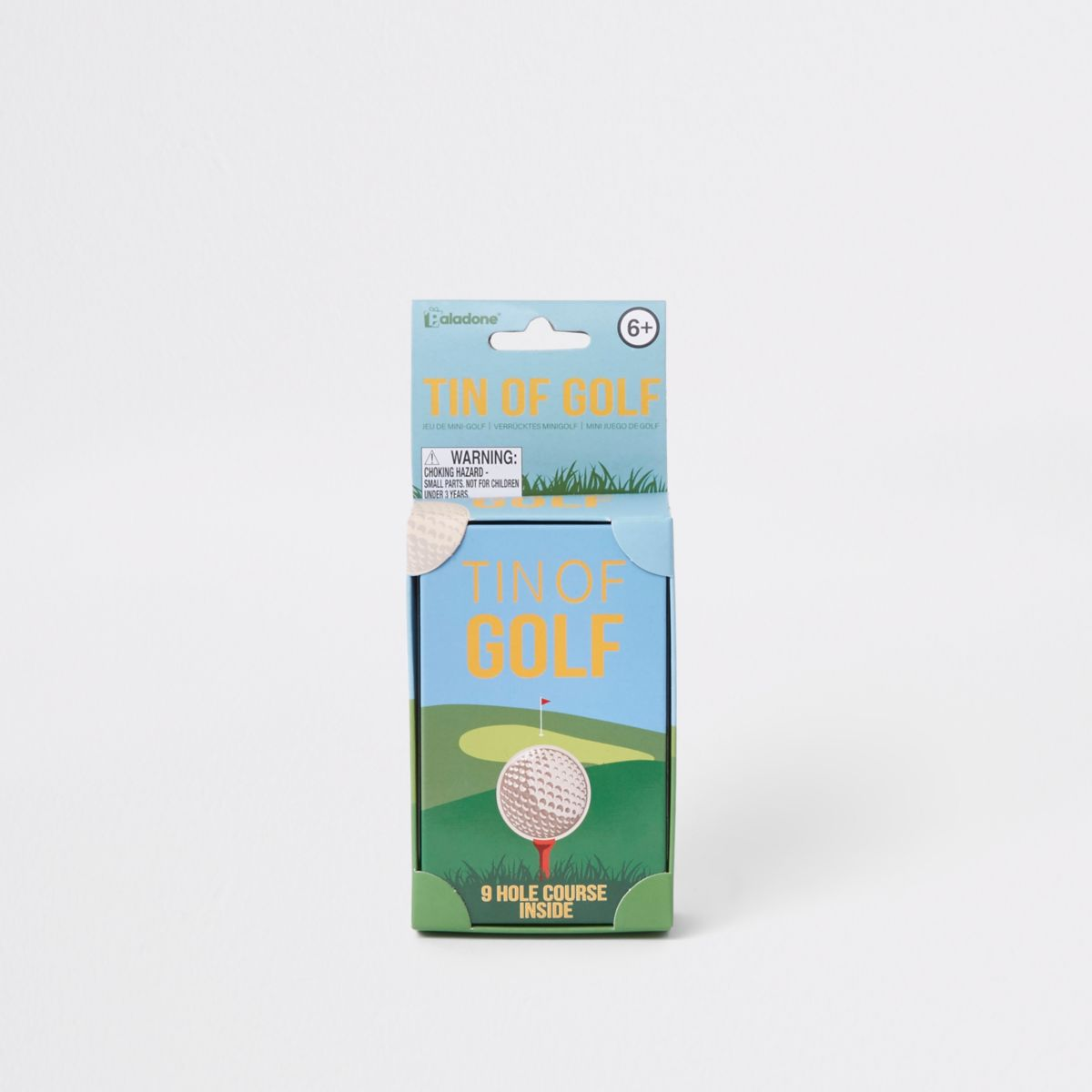 Grey tin golf