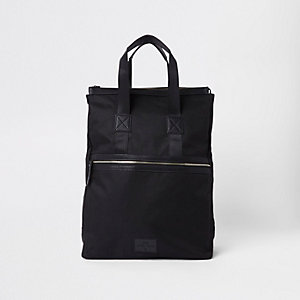 Black zip-up hybrid backpack