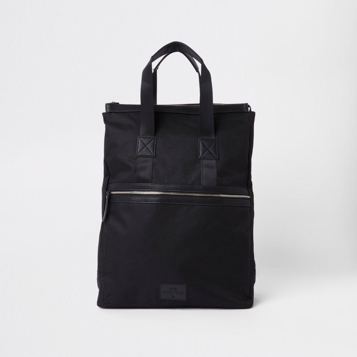 Black zip-up rucksack