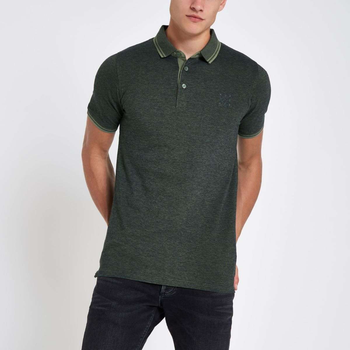 Only & Sons green polo shirt