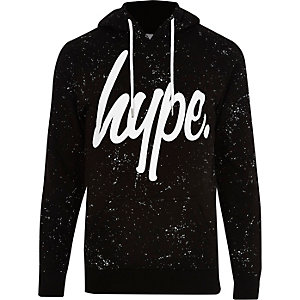 Hype – Schwarzer Hoodie mit Farbspritzern