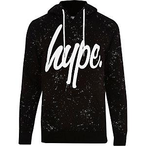 Hype - Zwarte hoodie met verfspetters