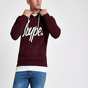 Hype - Donkerrode hoodie