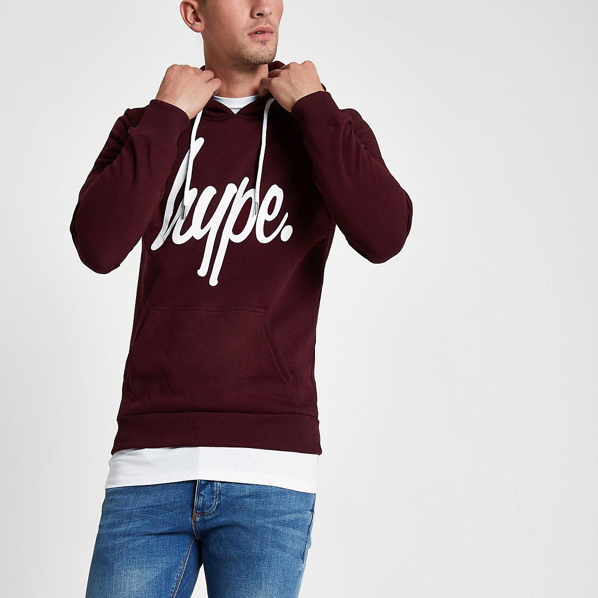 Hype dark red hoodie