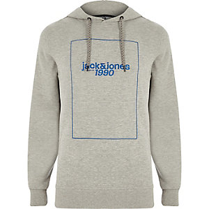 Jack & Jones – Sweat à capuche Core « 1990 » gris