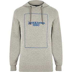 Jack & Jones Core - Grijze hoodie met '1990'-print