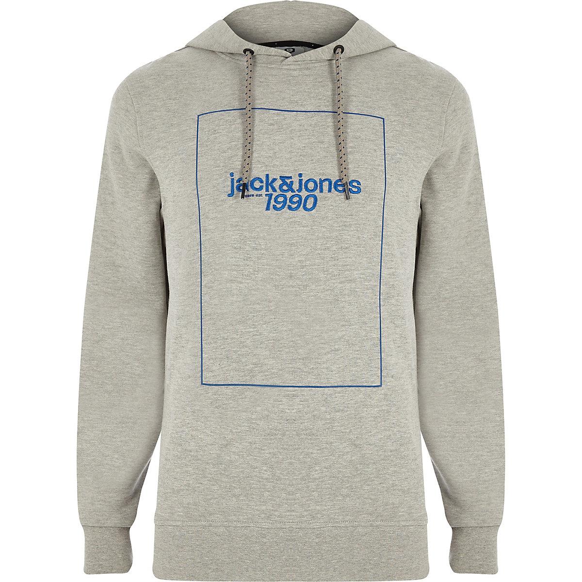 Jack & Jones Core grey '1990' hoodie