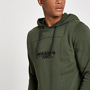 Jack & Jones Core green '1990' hoodie