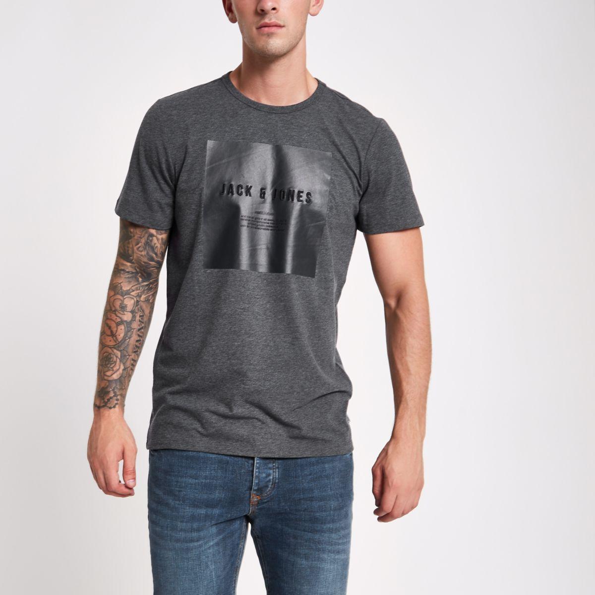 Jack & Jones navy 'create culture' T-shirt