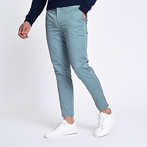 Lichtblauwe skinny-fit chino