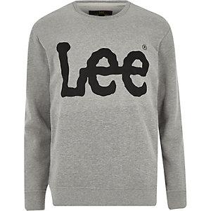 Lee – Graues Sweatshirt mit Logo