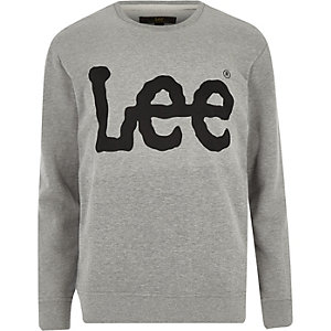 Lee – Sweat imprimé logo gris