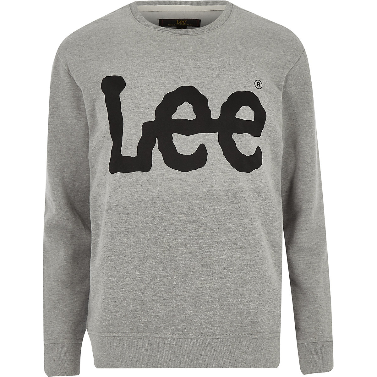 Lee grey logo print sweatshirt