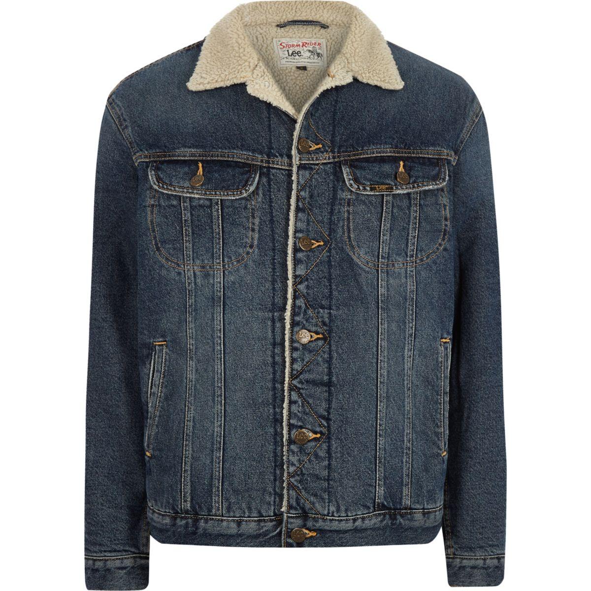 Lee blue borg collar denim jacket