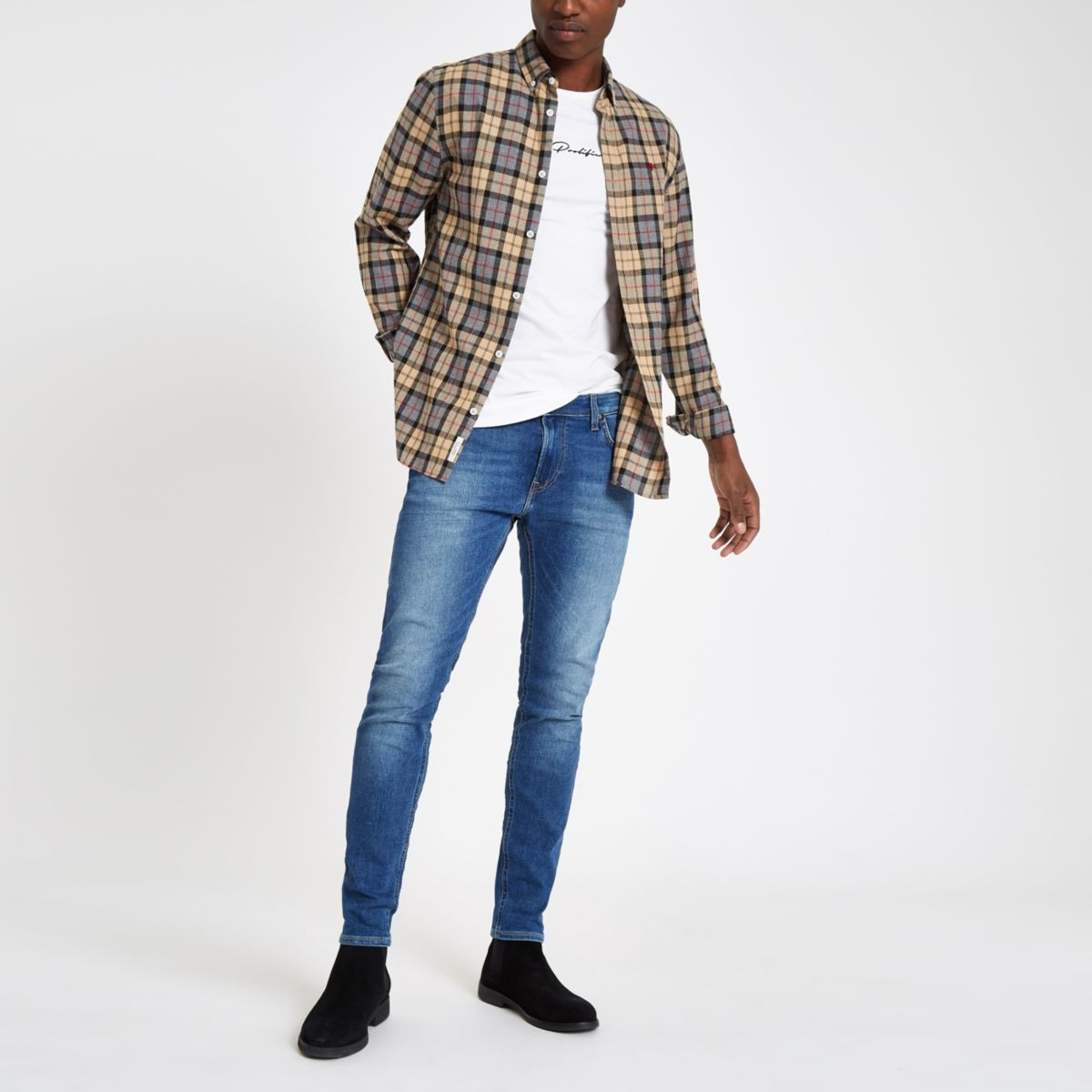 Lee light blue Malone skinny fit denim jeans