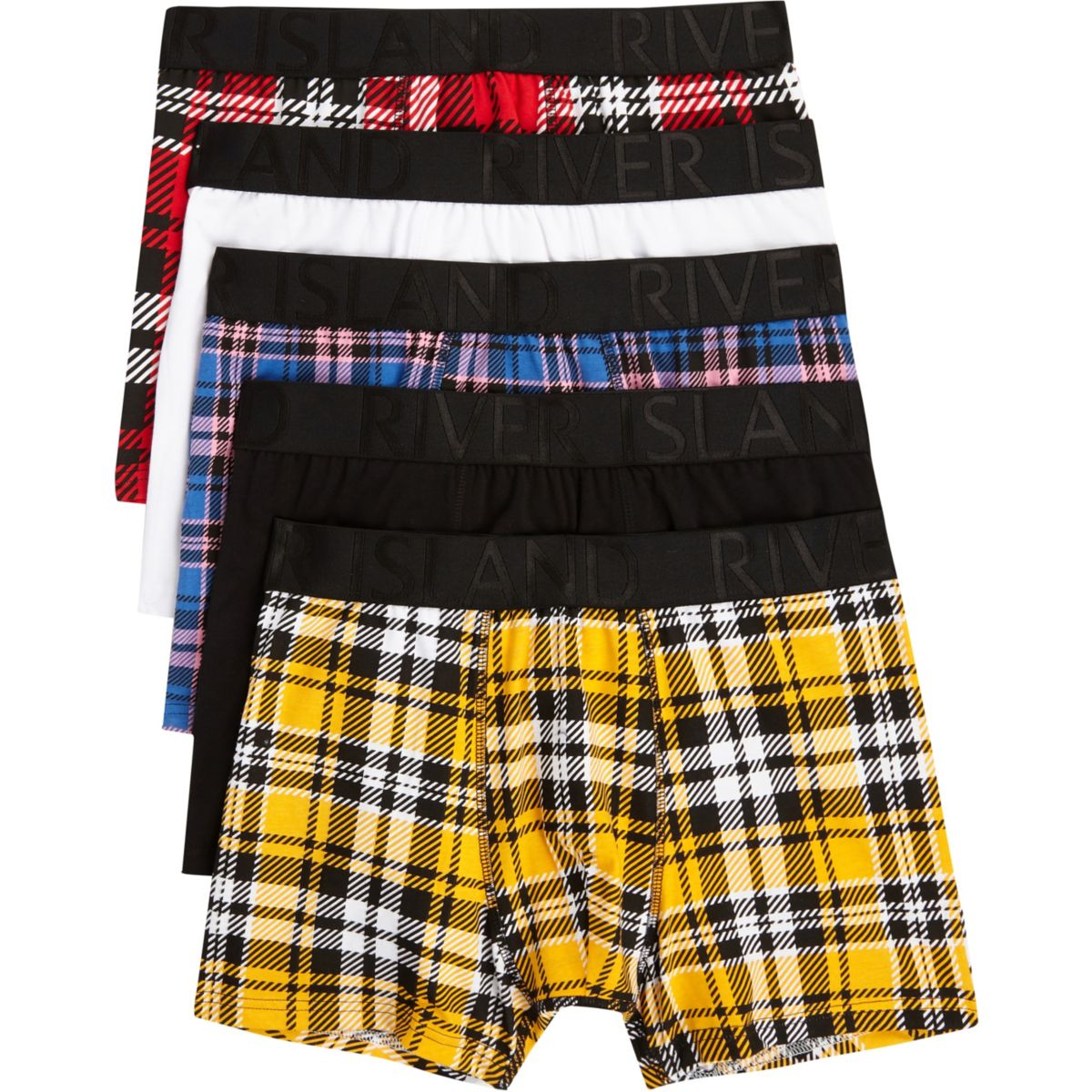 Red check print trunk multipack