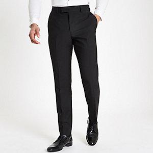 Schwarze, taillierte Anzughose