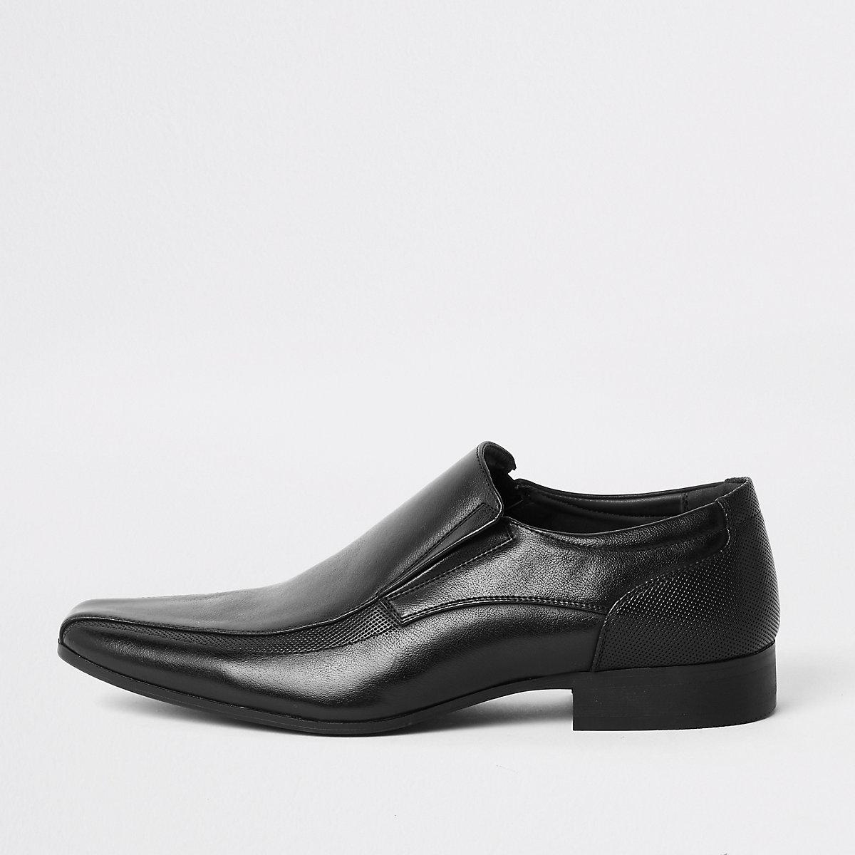 Black slip on formal shoes