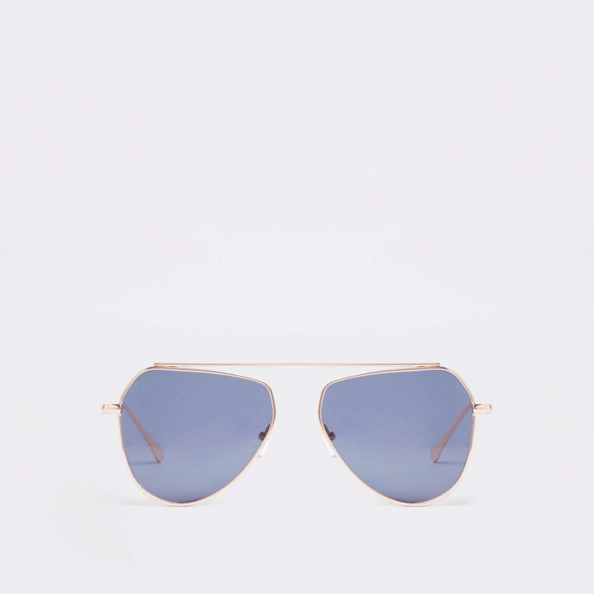 Gold tone aviator style sunglasses
