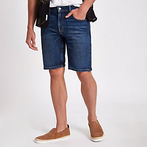 Levi's blue 511 slim fit denim shorts