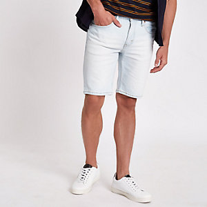 Levi's - Short 511 slim en denim bleu clair