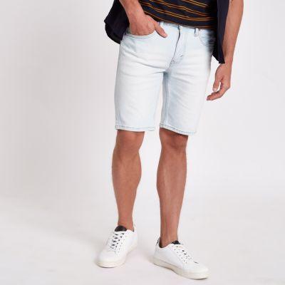 Levi's   Lichtblauwe 511 Slim Fit Denim Shorts by River Island