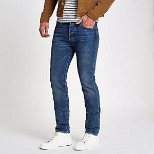 Blue Levi's 501 skinny jeans