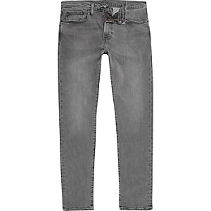Levi's 512 - Grijze smaltoelopende slim-fit denim jeans
